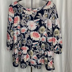 LC by Lauren Conrad Floral Blouse